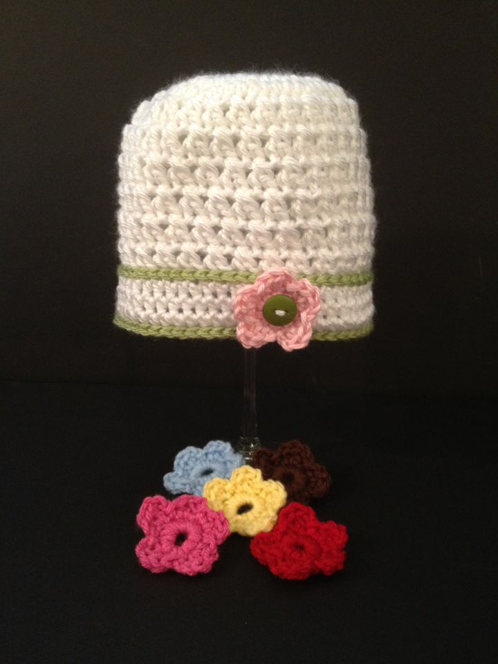 Button on Flower Hat